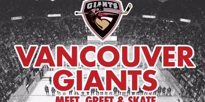 Meet, greet and skate with Vancouver Giants on Family Day
