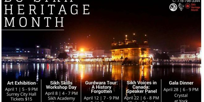 B.C. Sikh Heritage Month events