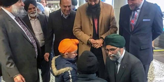 Defence Minister Harjit Sajjan welcomes first arrival of Sikh and Hindu minority families from Afghanistan