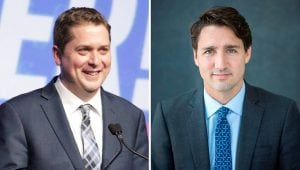 Conservatives still ahead of Liberals – and Trudeau still ahead of Scheer as preferred PM