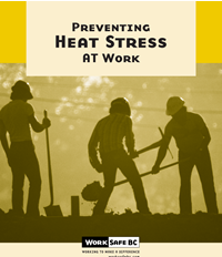 High temperatures can put workers at risk of heat stress