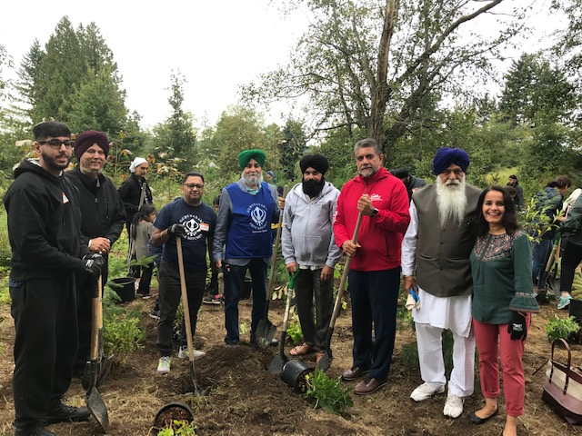 550 trees planted in honour of 550th birthday of Guru Nanak Dev Ji