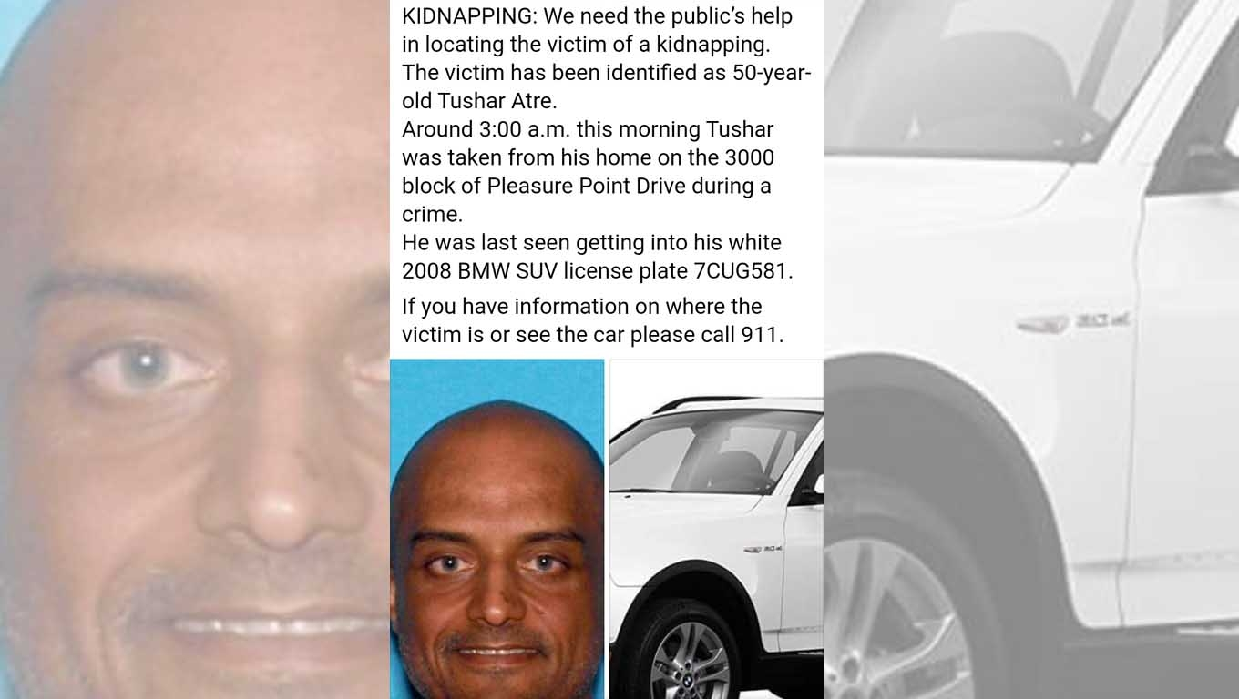 Kidnapped Indian-origin tech millionaire found dead in US