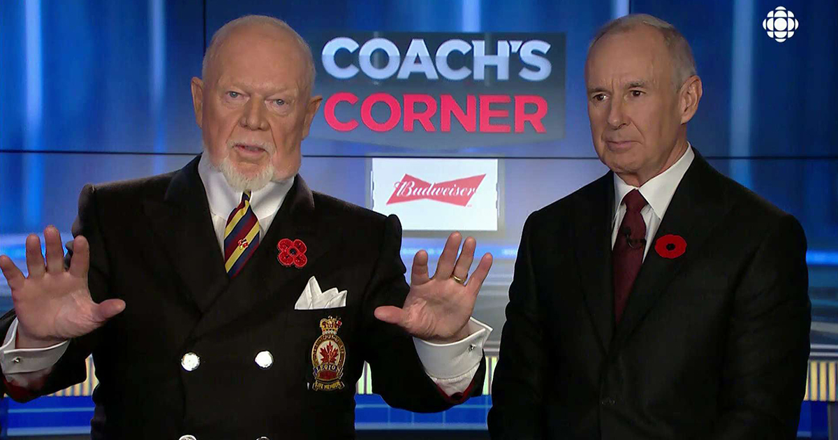 Don Cherry fired from Sportsnet, asked to immediately step down from HNIC