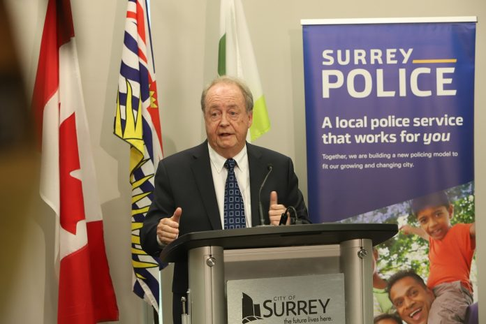 City of Surrey given approval to proceed with formation of Surrey Police Department